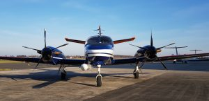 Reims Cessna F-406 der TU Braunschweig mit Nasenmast von INVENT